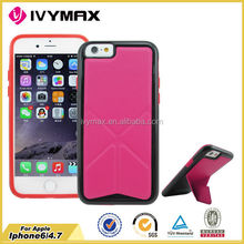 Hot Transformer Flip PU Leather Cover case for Apple Iphone 6 4.7'