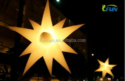 inflatable hanging lights/Hanging inflatable event lights/outdoor inflatable lighting star decoration