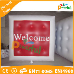 led inflatable helium cubes/inflatable floating cube/inflatable helium cube