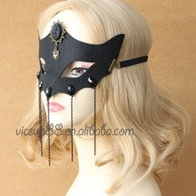MJL-062 Yiwu Caddy The fox face mask of Venice styles lace mask cosplay black mask