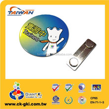 Custom high quality button metal round shape tin magnetic name tags