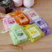 In stock soap organza pouch colorful ribbon pouch
