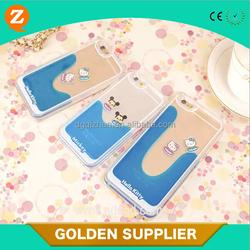 new style fashion mobile phone case pc+ liquid hello kitty I5 phone case