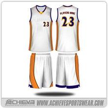 customize jersey design yellow basketball/ design basketball uniforms online