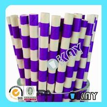 Fashion Purple Horizontal Craft Paper Straws For Wedding Day
