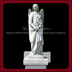 Western Style Memorial Granite Tombstone With Angel