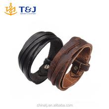 >>Men Women Unisex Multi thong braided thin Genuine Leather Bracelet /wristband Jewelry Items/