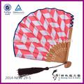 handmade decorações de festa tecido de bambu ventilador portátil