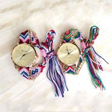 Woven fabrics watch alloy and leather watch automatic leather watches SY-35083