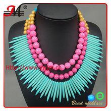 el estilo bohemio 4 colores de declaración de las mujeres de la burbuja cuello collares de cuentas
