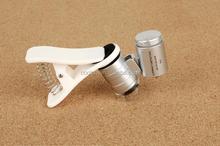 Microscopio lupa con luz led para móviles/nueva versión universal de tipo clip