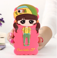 China supplier mobil accessroies custom lovely 3d silicone phone case for fashion lady