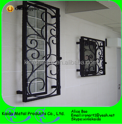 Ornamental wrought iron door grill designs for wooden door for Window design 4 6