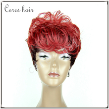 hot sale party wig premium kanekalon fiber wig popular ombre red short wig