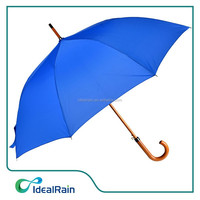 Blue wooden stick the cost of subway golf umbrella