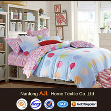 NEW arrival dots design 200TC pigment printed modern bed sheet sets