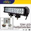 9-32 Dual Row Flood/Spot Beam Vehicle Auto Driving Lights 72W Vehicle LED Light Bars for Off Road
