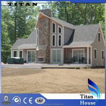 Luxury Vacation Prefabricated Triangle Gable Glass House