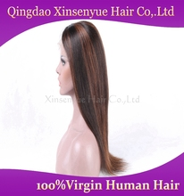 Wholesale Brazilian virgin hair sexed lace front wig human hair silky straight hair