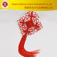 Jubilant Seasonal Flowers Chinese Characteristic Handicraft China Knot