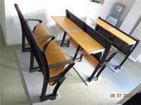Commercial folding school desk and chair cheep price school furniture