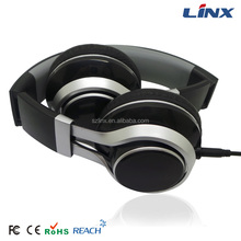 Black Foldable ear phones with mic from shenzhen city for iphones