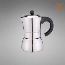 2015 New Design -----Stainless Steel Espresso Coffee Makers 6 Cups/ coffee maker stove pot