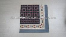 3 color fashion design mens' 100% cotton handkerchief
