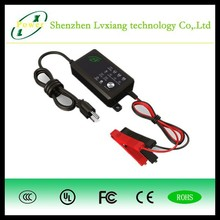 12v automatic lead acid battery charger with CC/CV/FV 3 charge stage CE FCC UL compliance