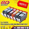 Zhuhai low MOQs compatible ink cartridge pgi-225 cli-226 for canon