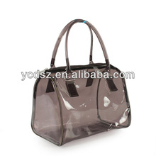 women transparent clear plastic shoulder bag