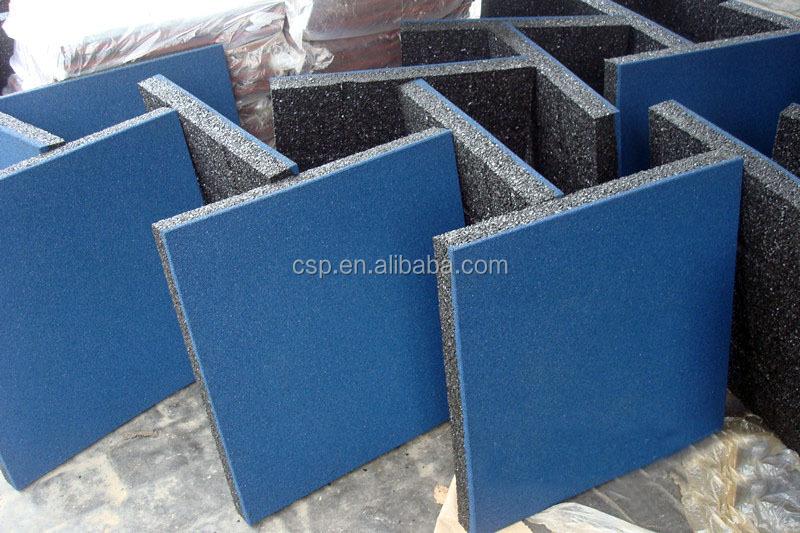 저렴한 다채로운 균일 한 충격 흡수 재료 바닥 타일-고무 바닥재 ...