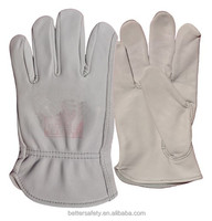 No Lining Grain Goatskin Leather Work Glove Top Quality