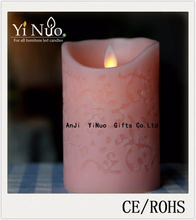 birthday party supplies moving flame LED smokeless pillar candles