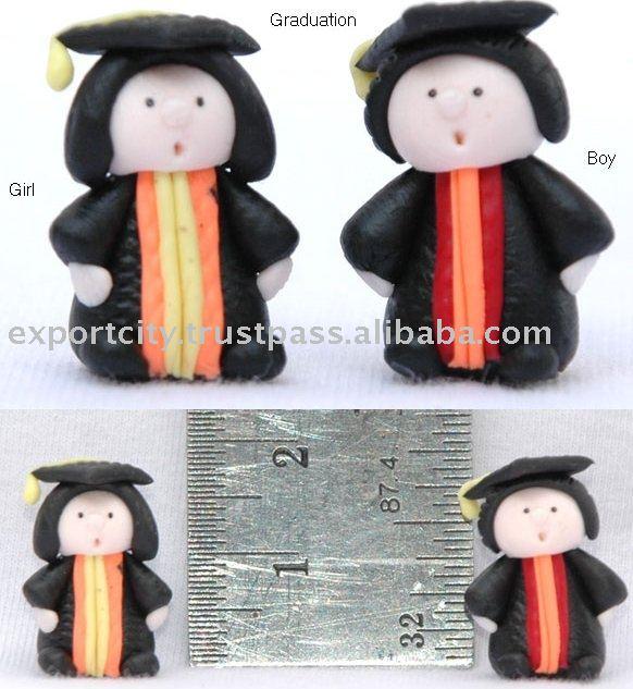 De dibujos animados en miniatura casa de muñecas accesorios, Graduación