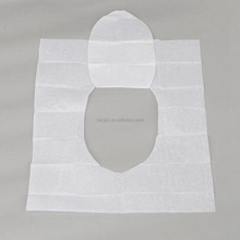 Disposable toilet seat cover for traveling