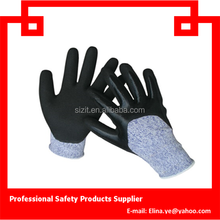 High level cut resistance gloves ,seeway palm Nitrile coated working gloves