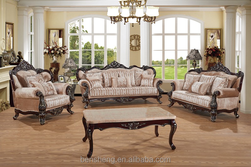 S1322 foshan shunde meubles usine l gant neo classique for Sofas de estilo clasico