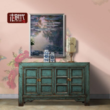 style high gloss sideboardChinese antique furniture classical china painted cupboard shinning old beijing locker rustic lacquer