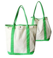wholesale green 10oz cotton canvas tote bag