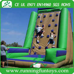 Popular inflatable rock climbing wall, kids inflatable climbing games