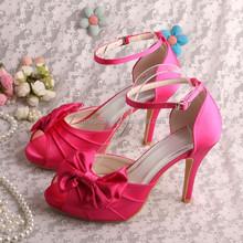 (16 Colors) 10CM Hot Pink Platform Sandals Bridesmaid High Heeled