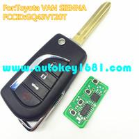 MS newest 4 button flip remot key 315mhz for car toyota Sienna Van GQ43VT20T