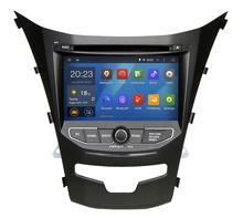 Quad Core Pure android 4.4.4 coche DVD GPS para Ssangyong Actyon nuevo Korando 2014 con pantalla capacitiva 1.6 G CPU 1 G RAM de Radio