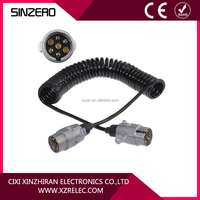 7 pin trailer cable 7-ways coile trailer cable with aluminium plug
