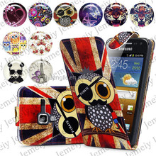 For Samsung Galaxy S3 Mini I8190 Folio Print Flip Leather Case Phone Bag Back Cover Bags