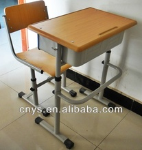 2014 new design high quality spraying panel student desk and chair