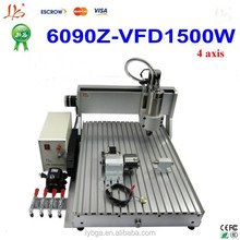 LY CNC 6090 router with 1.5KW water cooled spindle , desktop cnc router for widely usage
