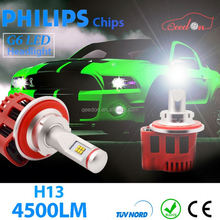 Qeedon astonishing h7 car headlamp bulb h1/ h3/h7/h4 /h8/h9/h11/h16 auto led headlight h4 12v 100w