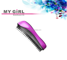 2015 My girl Hot sale easy clean plastic hair brush best JMS A comb popular in USA,tangle brush/hair teezer